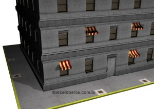 Fotinho em detalhe do prédio