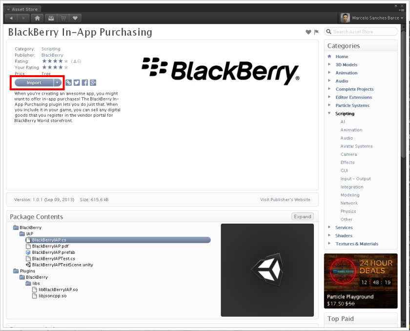 BlackBerry In-App Purchasing Plugin