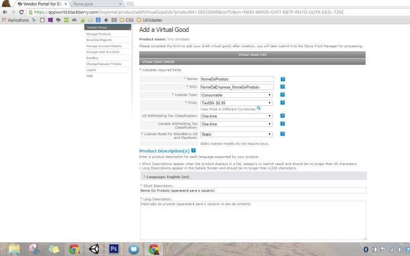 Vendor Portal - Add Virtual Good